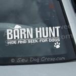 Barn Hunt Car Window Sticker