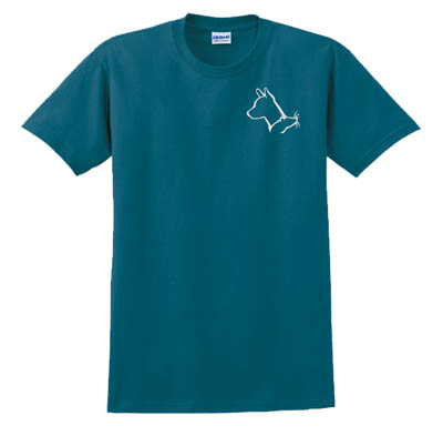 Embroidered Basenji barn Hunt t-shirt