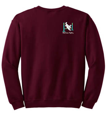 Embroidered Agility Maltese Sweatshirt