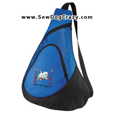 Cartoon Westie Bar Jump Bag
