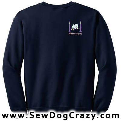 Cartoon Westie Agility Sweatshirt