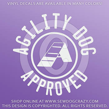 Agility Dog Vinyl Stickers