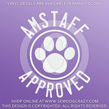 American Staffordshire Terrier Approved Decal