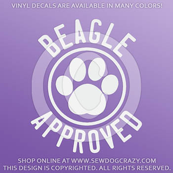 Beagle Approved Vinyl Decals