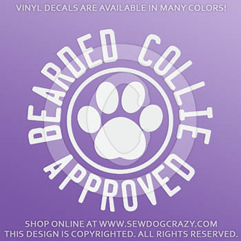 Bearded Collie Approved Vinyl Stickers