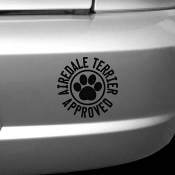 Airedale Terrier Approved Decal
