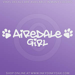 Airedale Girl Decal