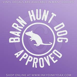 Barn Hunt Dog Decal