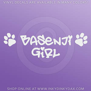 Basenji Girl Decal