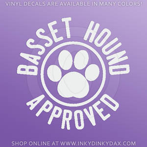 Basset Hound Approved Decal