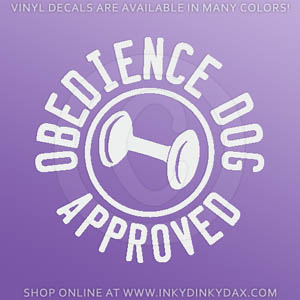 Obedience Dog Approved Decal