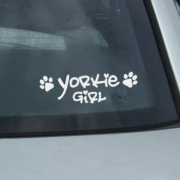 Yorkie Girl Decals