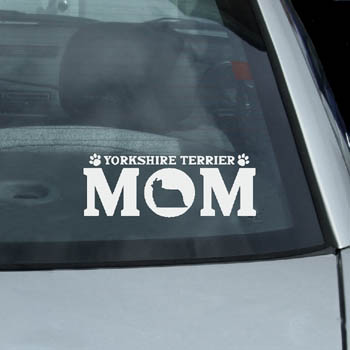 Yorkshire Terrier Mom Decal