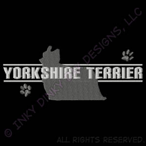 Yorkie Embroidered Apparel