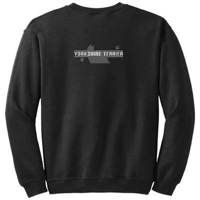 Embroidered Yorkie Sweatshirt