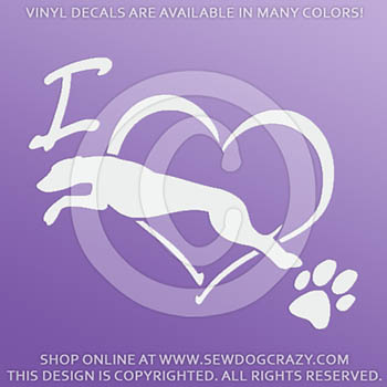 Love Whippet Jumping Decal