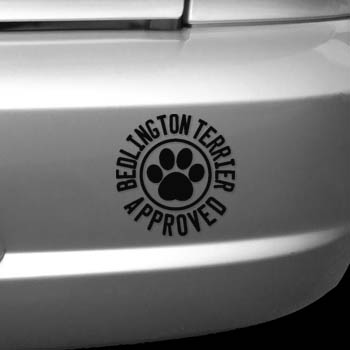 Bedlington Terrier Approved Decal