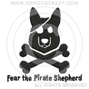 German Shepherd Pirate Shirts