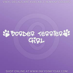 Border Terrier Girl Sticker