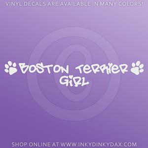Boston Terrier Girl Decals