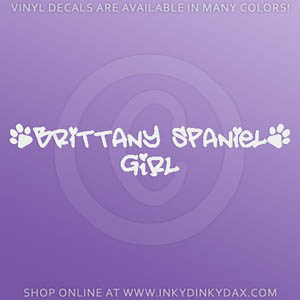 Brittany Spaniel Girl Decals