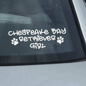 Chesapeake Bay Retriever Girl Decal