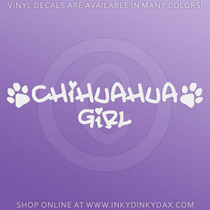 Chihuahua Girl Decal