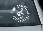 Canine Musical Freestyle Decal