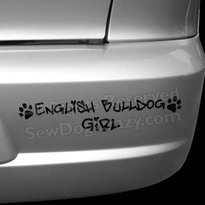 English Bulldog Decals