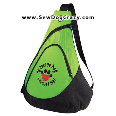 Embroidered Rescue Dog Bag