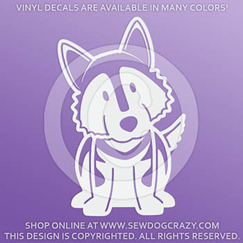 Cartoon Malamute Decals