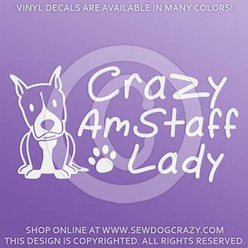 Crazy AmStaff Lady Decals