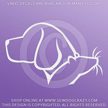 Vinyl Barn Hunt Beagle Car Stickers