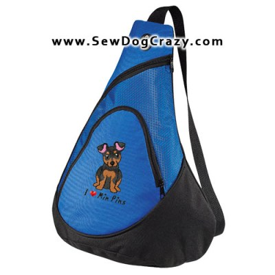 Cartoon Miniature Pinscher Bag