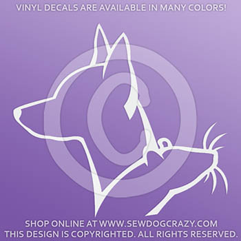 Min Pin Barn Hunt Vinyl Stickers
