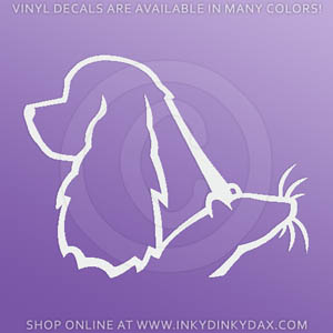 Cocker Spaniel Rat Sticker