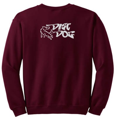 Embroidered Disc Dog Sweatshirt