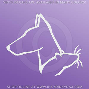 Doberman Barn Hunt Decal