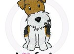 Cartoon Wire Fox Terrier Embroidery