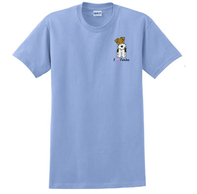 Embroidered Wire Fox Terrier T-Shirt