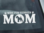 Wire Fox Terrier Mom Decal