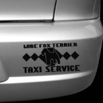 Wire Fox Terrier Taxi Decal