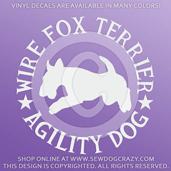 Wire Fox Terrier Agility Decals