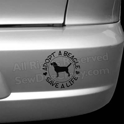 Adopt a Beagle Bumper Stickers