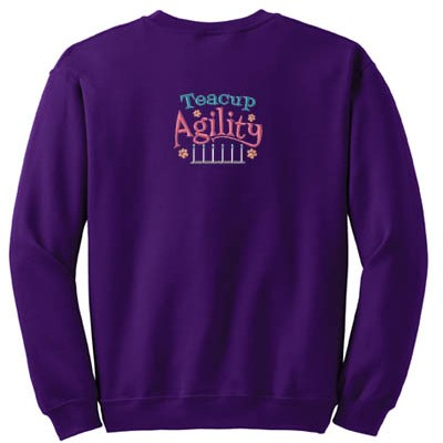 Embroidered Teacup Agility Sweatshirt