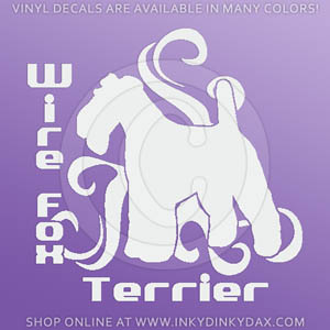 Tribal Wire Fox Terrier Decals