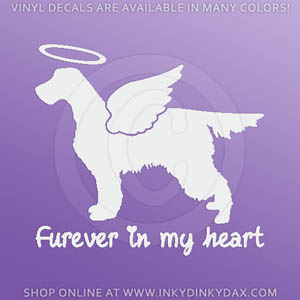 Angel Gordon Setter Decal