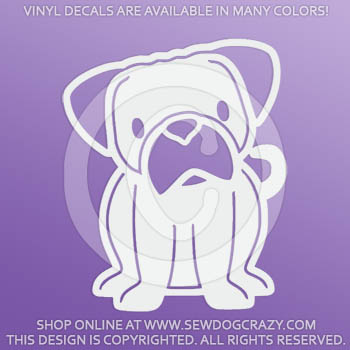 Vinyl Cartoon Pug Decals