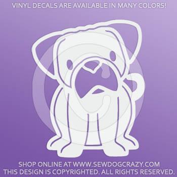Vinyl Cartoon Pug Decals