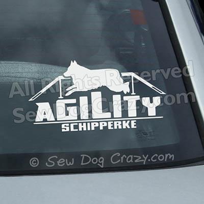 Schipperke Agility Dog Walk Car Decals